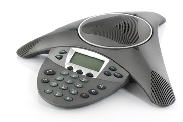 Conference business phone isolated on a white background