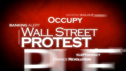 Occupy Wall Street protest headlines video tag cloud