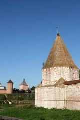 Walls of monastery in Suzdal Russia