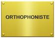 """""""Orthophoniste"""" Plaque Professionnelle Gravée"""
