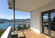 Modern apartment, balcony overlooking the lake
