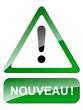 """Panneau """"NOUVEAU"""" (nouveautés publicité tampon bouton écriteau)"""