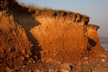 Erosion at Sunderland Point, Lancashire