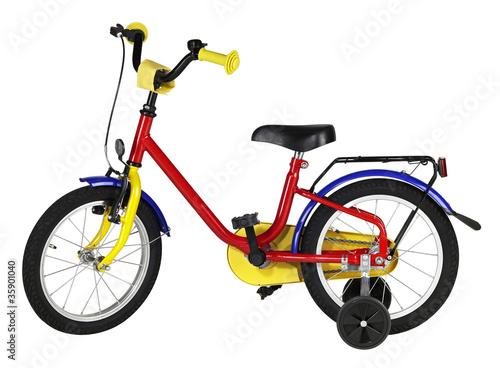 Leinwanddruck Bild juvenile bicycle