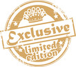 Stamp with the words exclusive - limited edition