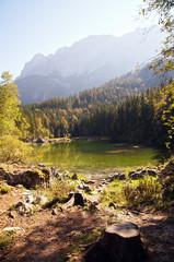 Idyllic Alpine Lake
