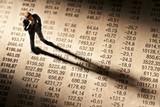 Banker und Kurstabelle poster