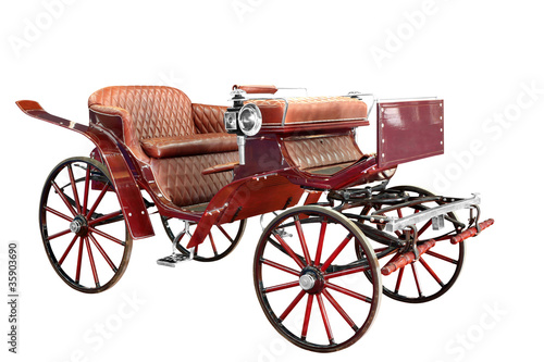 vintage carriage isolated on white