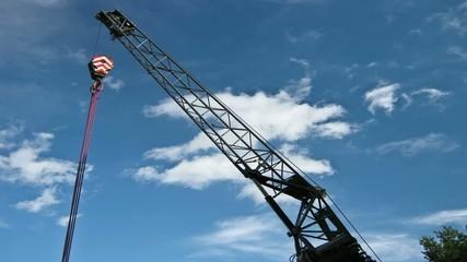 Crane under the Sky
