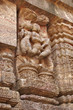 Erotic sculptures ruins at Sun Temple, Konark