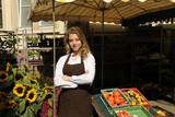 vendor at the farmers market