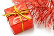 Geschenk und Girlande