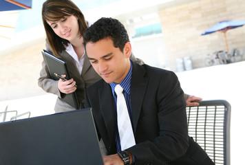 Man and Woman at Office