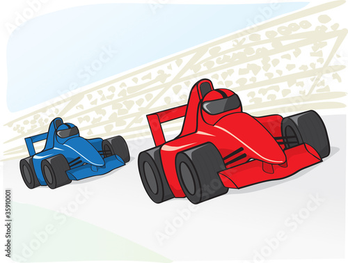 Foto op Canvas Cars racing cars
