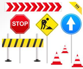Road Signs Illustration