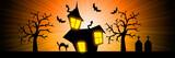 Halloween nightmare rays banner background poster