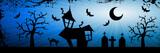 Halloween nightmare background poster