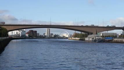 Kingston Bridge over River Clyde Glasgow Scotland