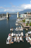 The Burrard bridge & False creek waterway, Canada.