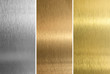 Aluminum, bronze and brass stitched textures - 35913405