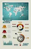 Set elements of infographics. World Map and Information Graphics poster