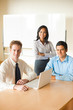 Diverse Team Business Meeting Asian Caucasian Latino