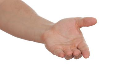 open hand of man