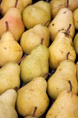 Pear Background on Market Stall