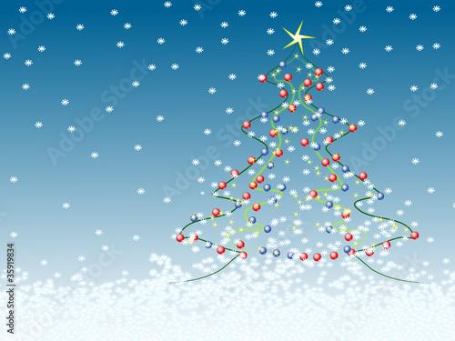 weihnachtsbaum im schnee von kanusommer lizenzfreier vektor 35919834 auf. Black Bedroom Furniture Sets. Home Design Ideas