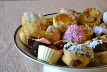 pastries in a bowl