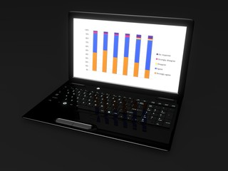 Business Laptop with Graph