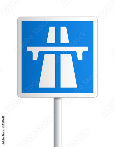Panneau - Entrée d'autoroute