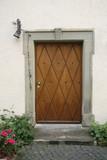 nostalgic wooden entrance door poster