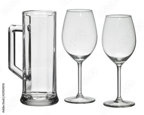 set of drinking glasses