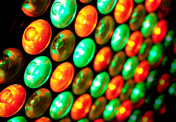 fondo de bombillas led