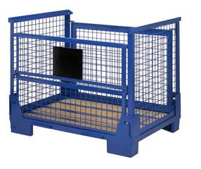 blue lattice box