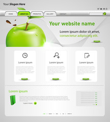 web design vector template with apple