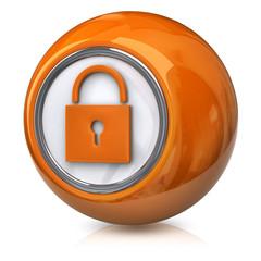 Orange lock icon