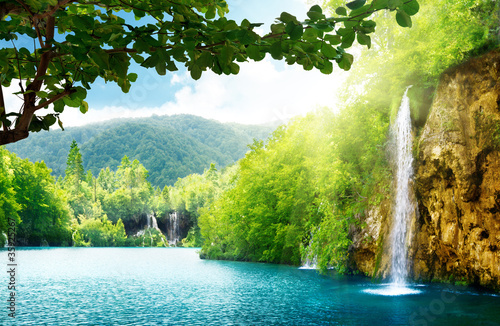 waterfall in deep forest - 35925267