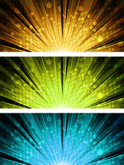 abstract light explosion backgrounds