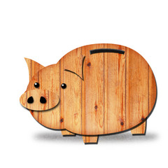 wood piggy bank