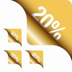 Golden Metallic Corner 10%/20%/30%/40%