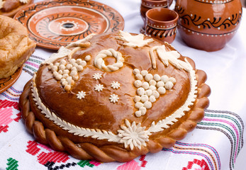 Traditional Moldovan loaf.