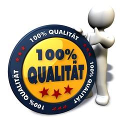 100% Qualität - Button 01