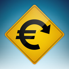 Road Sign Euro Down