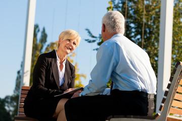 Business Coaching im Freien