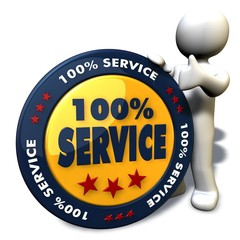 100% Service - Button 02