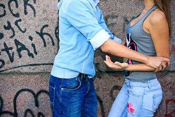 Couple quarrels
