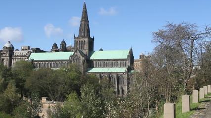 Glasgow Cathedral from Necropolis Glasgow Scotland