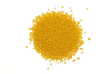 Kunststoffgranulat Gelb